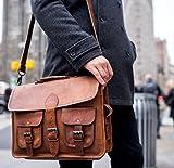 18 Inch Rustic Vintage Leather Messenger Bag Laptop