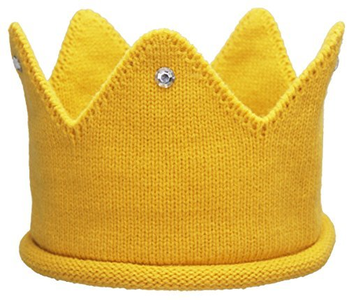 Baby Toddler Boys Girls Crown Warm Soft Birthday Knit Crochet Beanie Hat