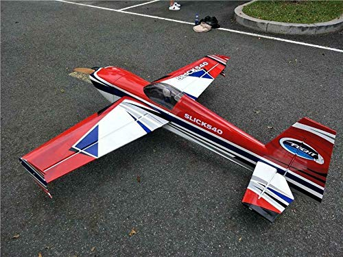 Slick 78″ 35-50cc 7Channels Balsa Wood Fixed Wing RC Airplane Gas RC Airplane