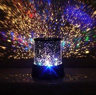 Uping LED Night Light Projector Lamp With Colorful Sky Star Scene, Bed Side Lamp With USB Cable