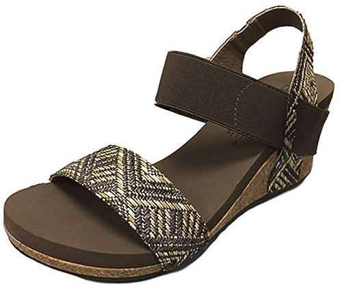 96bcff646b3 Corkys Footwear Women's Bandit Wedge Sandal