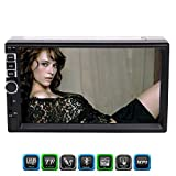 Eincar Double 2 Din MP5 Player with 7 inch Capacitive Multi-Screen In Dash FM Radio Audio 1080P Video Player Support Bluetooth/Radio/AV in/Music/USB/Photo/Movie/TF/Wireless Remote