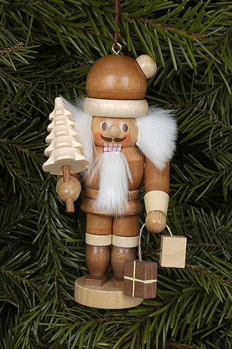 - Christian Ulbricht Natural Wood Mini Santa Nutcracker