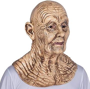 Latex Realista Viejo Hombre Máscara Hombre Disfraz Halloween ...