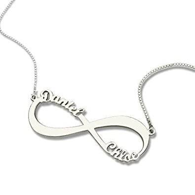 Amazon hacool personalized name necklace custom inscribed amazon hacool personalized name necklace custom inscribed pendant jewelry 925 sterling silver with any name silver jewelry aloadofball Gallery