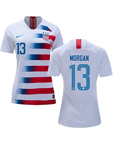 USA Home Women s Soccer Jersey 2018 2019 Morgan  13 Size Women s Large ebb9416ad