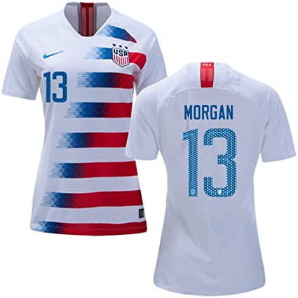 6a42c35fb Amazon.com   USA Home Women s Soccer Jersey 2018 2019 Morgan  13 Size  Women s Large   Clothing