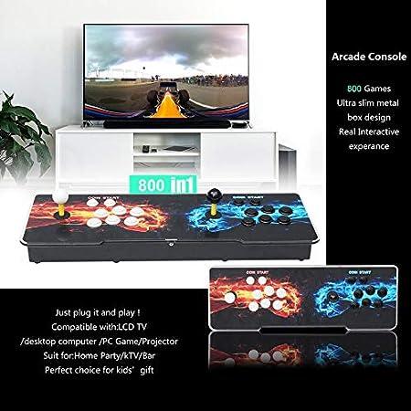 Peanutaoc 800 Juegos para el hogar, Juego de Consola multijugador, Juego de Consola Doble, Consola de Juegos para niños, para casa, Fiesta, TV, Bar: Amazon.es: Hogar