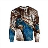 natural balance kangaroo - iPrint Men's,Natural Cave Decorations,Neck Sweat Shirt