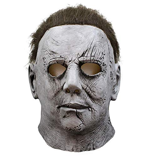 Michael Myers Mask Cosplay Halloween Mask Melting Face Overhead Latex Costume Halloween Scary Tricky Game Toy
