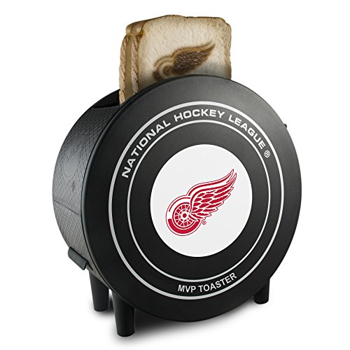 Pangea Brands NHL Detroit Red Wings ProToast MVP Toaster, 10 x 5 x 9.75-Inch, Black