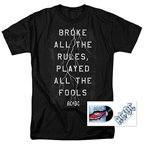 AC DC Thunderstuck Lyrics Razors Edge Album T Shirt