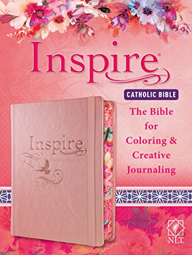 Tyndale NLT Inspire Catholic Bible (Hardcover, Rose Gold): Catholic Coloring Bible-Over 450 Illustrations to Color and Creative Journaling Bible Space, Religious Gifts That Inspire Connection with God