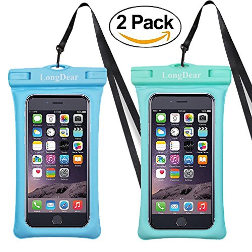 Waterproof Phone Pouch,Floating Cell Phone Case Dry Bag for iPhone X/8/8plus/7/7plus/6s/6/6s plus Samsung Galaxy s8/s7 LG V20 Google Pixel up to 6.3inch (Blue+Greenish)