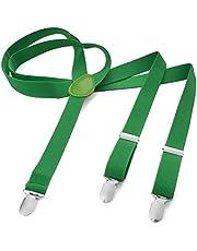 Męskie damskie długie szelki w kształcie litery Y, 3 klipsy, elastyczne, wąskie, jednokolorowe i kolorowe, z różnymi motywami