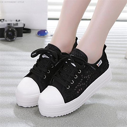 NGRDX&G Zapatos Deportivos Damas Plataforma Transpirable Zapatos Casual Zapatos Casual Damas Zapatos Blancos Mujeres Zapatos Vulcanizados black