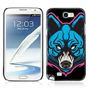 Hard Case or Cover for Samsung Galaxy Note 2 Neon wolf Painting cover for iphoneiphone caseharger