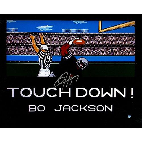 Oakland Raiders Nfl Hand Signed - NFL Oakland Raiders  Bo Jackson Signed Los Angeles Raiders 'Tecmo Bowl TD' 16x20 Photobo Jackson Signed Los Angeles Raiders 'Tecmo Bowl TD' 16x20 Photo