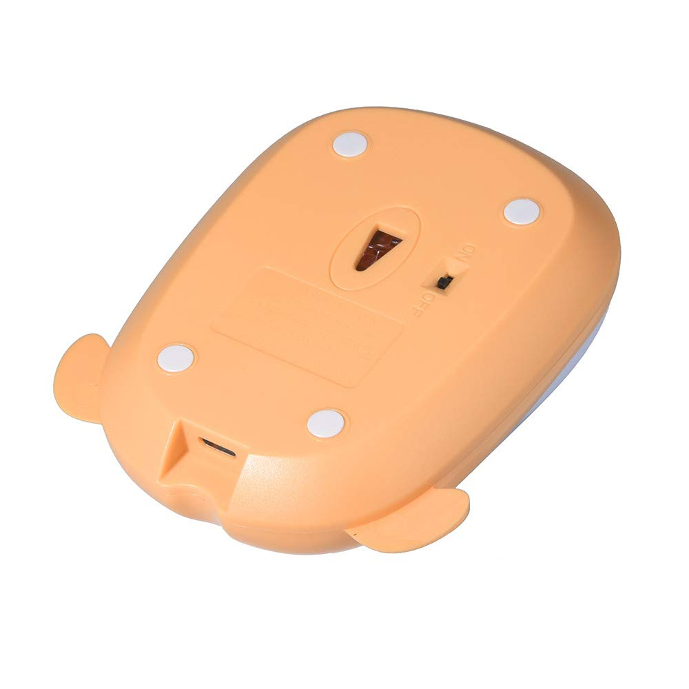 TheRang Wireless Mouse Rechargeable Lovely Dog Mice 1200 DPI Noiseless MAC//Laptop