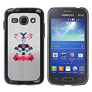 Paccase / SLIM PC / Aliminium Casa Carcasa Funda Case Cover para - Bird Paper Pink Paper Sketch Floral Art - Samsung Galaxy Ace 3 GT-S7270 GT-S7275 GT-S7272