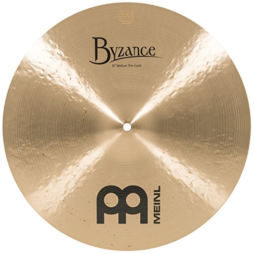 Meinl Cymbals B16MTC Byzance 16-Inch Medium Thin Traditional Crash Cymbal (Byzance Traditional Medium Thin)