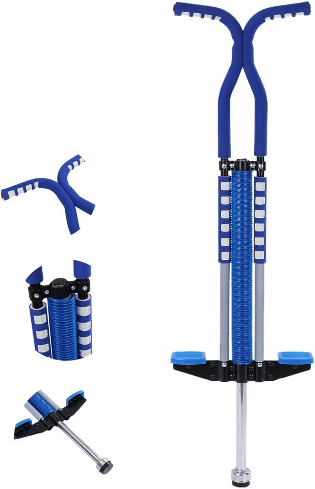 QJGhy Pogo Stick Jumper Easy Grip Sport Pogo Stick Indoor Outdoor Toy for Ages 10 Years Old or Older Toys for Boys Girls Games Fitness Equipment Color : Blue