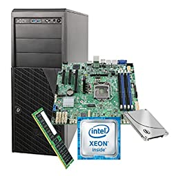Intel System LSVRP4304ES6XX1 Pedestal 4x3.5inch/2.5inch Hotswap 365W Micro-ATX Retail