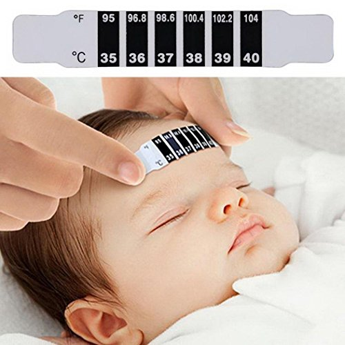 ThinIce Forehead Strip Thermometer Fever Check Baby Child Kid Adult Temperature Test Monitoring Safe Non-Toxic by ThinIce (Image #2)