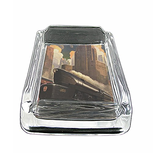 Perfection In Style Glass Square Ashtray Vintage Art Deco Design 004