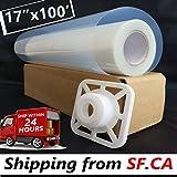 "17""x100'/roll,Premium Waterproof Inkjet Transparency Film Paper for Silk Screen Printing"