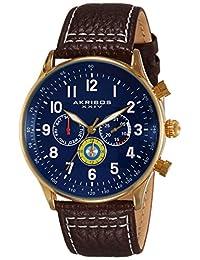Akribos XXIV Men's AK751BR Explorer Analog Display Swiss Quartz Brown Watch
