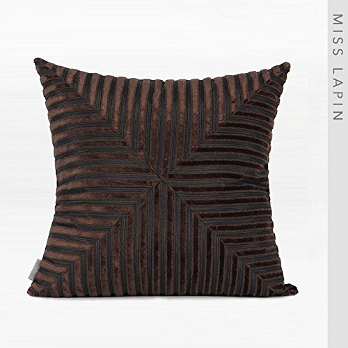 Vaevanhome Pillow Cushions by The Package Deep Coffee Gray Change Fringes Cut Cashmere Cut Cashmere Square Pillow