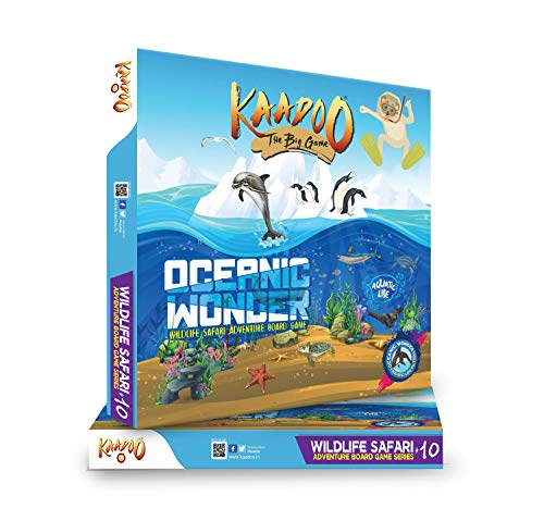 kaadoo Wildlife Safari Adventure Board Game: Oecanic Wonder.Fun-Filled Educational Board Game for 6 Plus Year-olds
