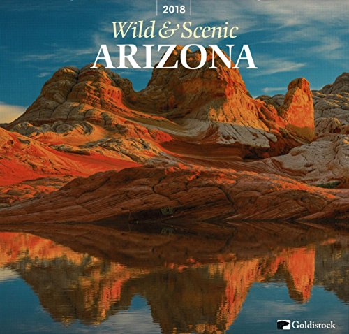 "Goldistock ""Arizona Wild & Scenic"" Eco-friendly 2018 Wall Calendar - 12"" x 26"" (Open) - Thick & Sturdy Paper - Beautiful Images of Arizona"