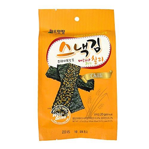Farm&matzzang CRISPY LAVER SNACK (chili) ★ Made in KOREA (1 box 7EA)