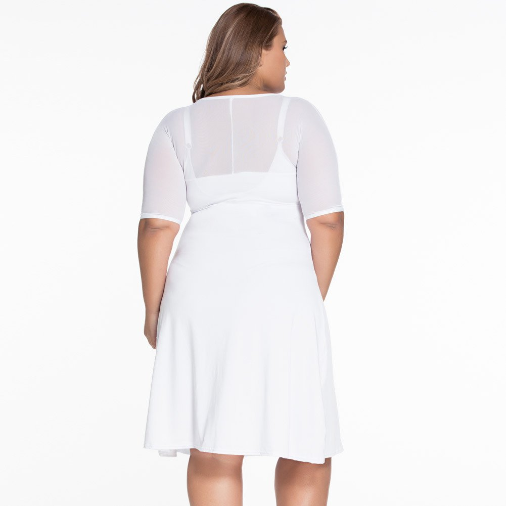 Vestidos Tallas Grandes Plus Ropa De Moda Para Mujer Sexys Casuales Largos De Fiesta y Noche Elegantes Blancos VE0055 at Amazon Womens Clothing store: