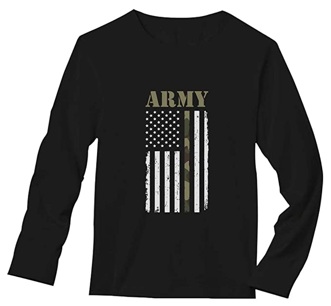 4cee06f19 Big USA Army Flag - Gift for Soldiers, Veterans Military Long Sleeve T-Shirt