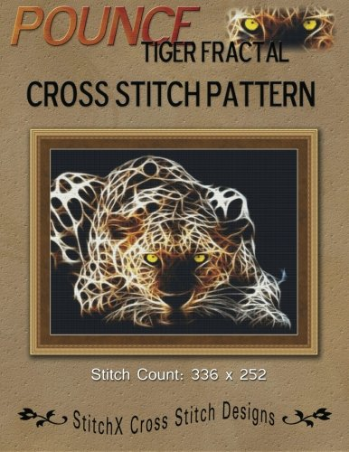 - Pounce Tiger Fractal Cross Stitch Pattern