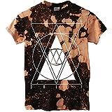 Erra Mens Drift Bleach Dye T-shirt Multi
