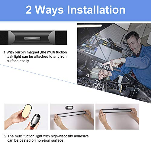 LED Closet Light,Under Cabinet LightCloset Lights Battery Operated, Wireless and Rechargeable for Stairs, Wardrobe, Kitchen, Hallway