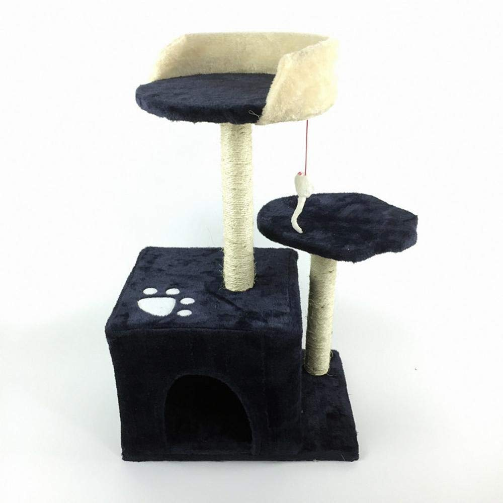 TOUYOUIOPNG Deluxe Multi Level Cat Tree cat trees towers Pet cat Toy Cat grab post grab board furniture ladder cat nest bed House 40  30  68cm (color   B)