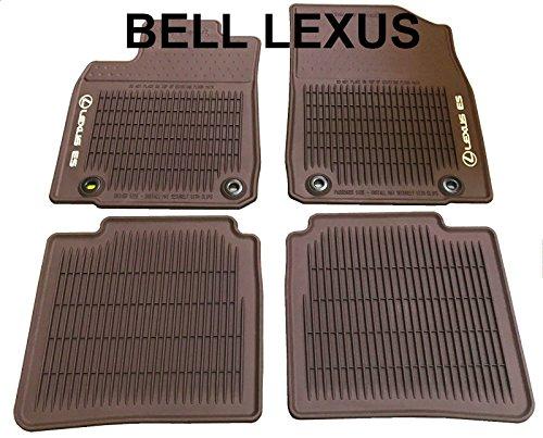 Lexus OEM FACTORY ALL WEATHER FLOOR MAT SET 2016 2017 2018 ES350 & ES300H BROWN