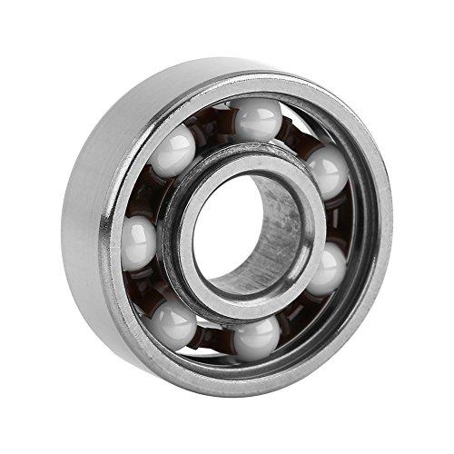- Akozon Ceramic Bearings, 1pc Miniature 608 Hybrid Ball Bearing Ceramic Balls for Fingertip Toys 8227mm