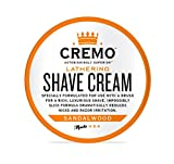 cremo shave cream - Cremo Lathering Shave Cream, Specially Formulated for Use With a Brush for a Luxurious Shave,  4.5 Ounces
