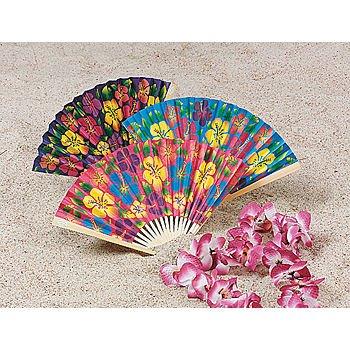 (Paper Hibiscus Folding Fan (1 ct))