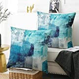 Alricc Set of 2 Turquoise and Grey Art Artwork