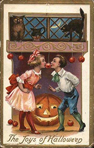 The Joys of Halloween Original Vintage Postcard