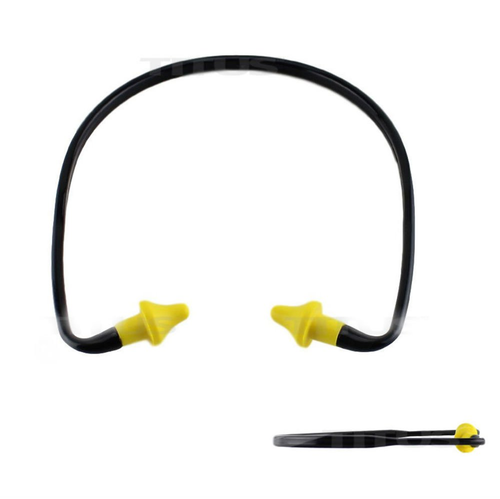 2 PACK EAR PLUGS NECK BAND SHOOTING FIRING RANGE HEARING NOISE SOUND PROTECTION