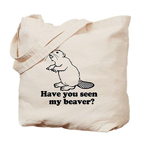 CafePress–Seen My Beaver? Tasche–Leinwand Natur Tasche, Reinigungstuch Einkaufstasche Tote S khaki