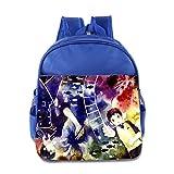 Kids Blue Exorcist School Backpack Cute Children School Bag RoyalBlue